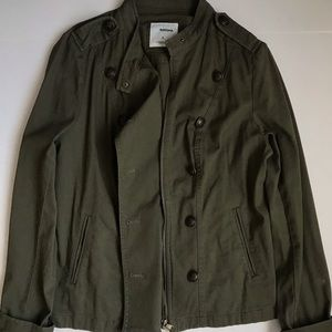 Green Zip/Button Jacket
